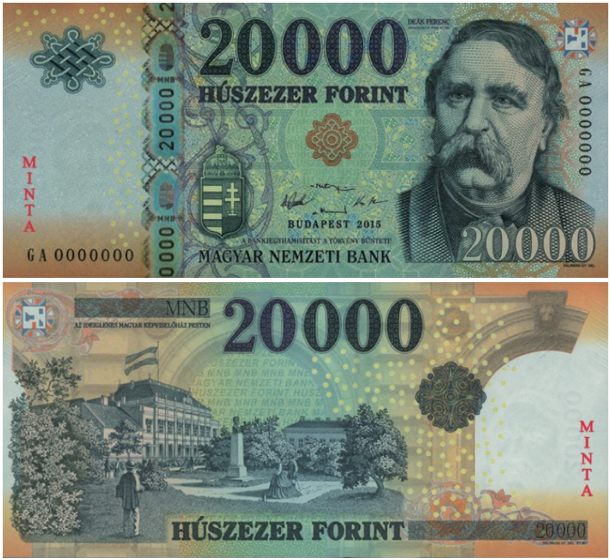 HUNGARY INTRODUCES NEW 20000 FORINT BANKNOTES